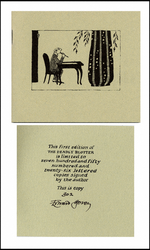 The Deadly Blotter, The Thoughtful Alphabet. Edward Gorey.