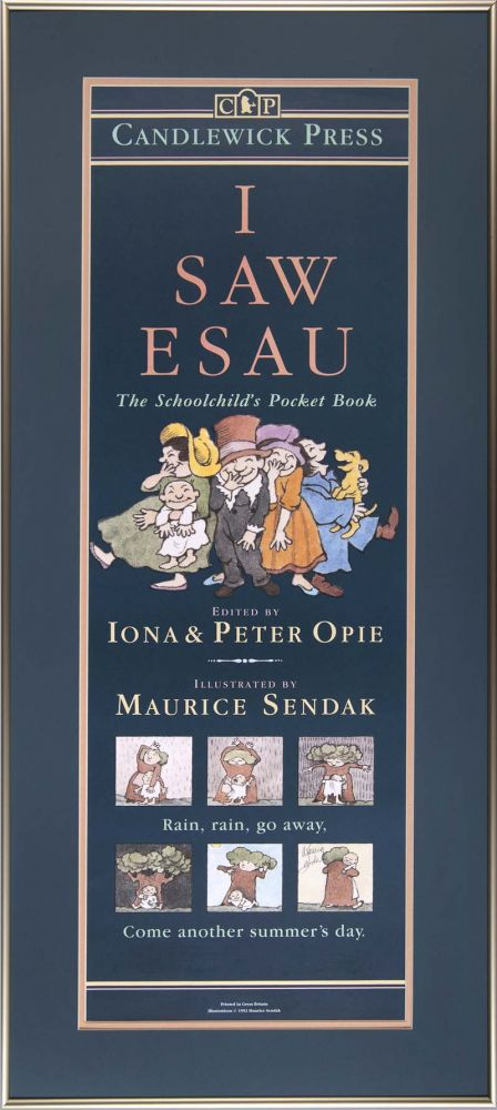 I Saw Esau: Framed poster for the book. Maurice Sendak.