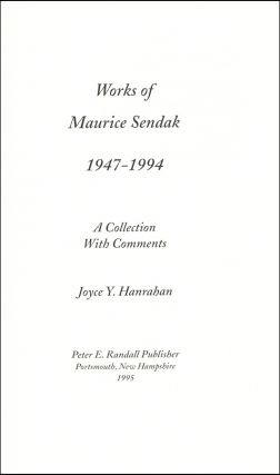 Works of Maurice Sendak 1947-1994