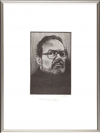 Maurice Sendak: Portrait (Signed Framed). Barry Moser