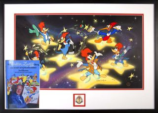 Woody Woodpecker 50th Anniversary Framed Animation Cel Presentation PLUS The Walter Lantz Story...