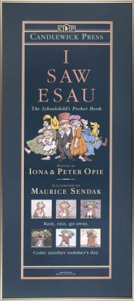 I Saw Esau: Framed poster for the book. Maurice Sendak