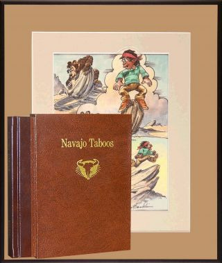 Navajo Taboos - Deluxe Edition with Framed Print. Fore Ernie Bulow, Tony Hillerman