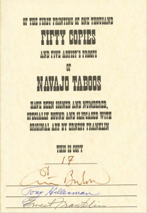 Navajo Taboos - Deluxe Edition with Framed Print