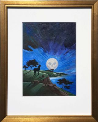 Moonblind: Original Painting + First Edition [2 items]. for Laura Crum Peter Thorpe