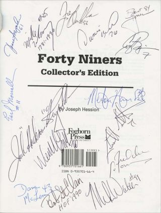 Forty Niners [FOOTBALL]: Features 30+ Football Player Signatures
