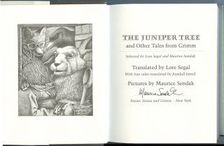 The Juniper Tree and Other Tales from Grimm [Deluxe edition with two signed Prints]