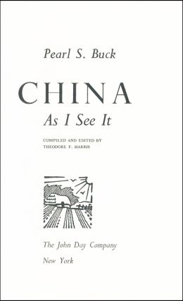 China As I See It